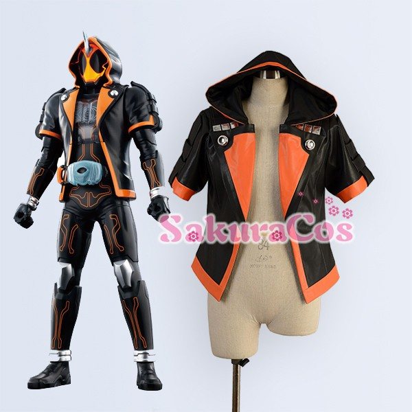 Game Anime Movie Masked Rider Kamen Rider GHOST Party Cosplay Costume Shapeshifting Black Coat Jacket Custom-made Any Size