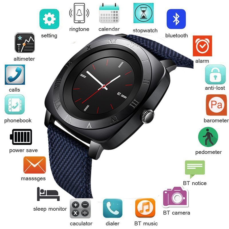 BANGWEI 2018 New Bluetooth Smart Watch Men With Touch Screen Big Battery Support TF Sim Card Camera for Android Phone Smartwatch