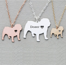 2018 Trendy Bulldog Charm English Necklace Any Words Can Be Customed Accept Drop Shipping YP6371