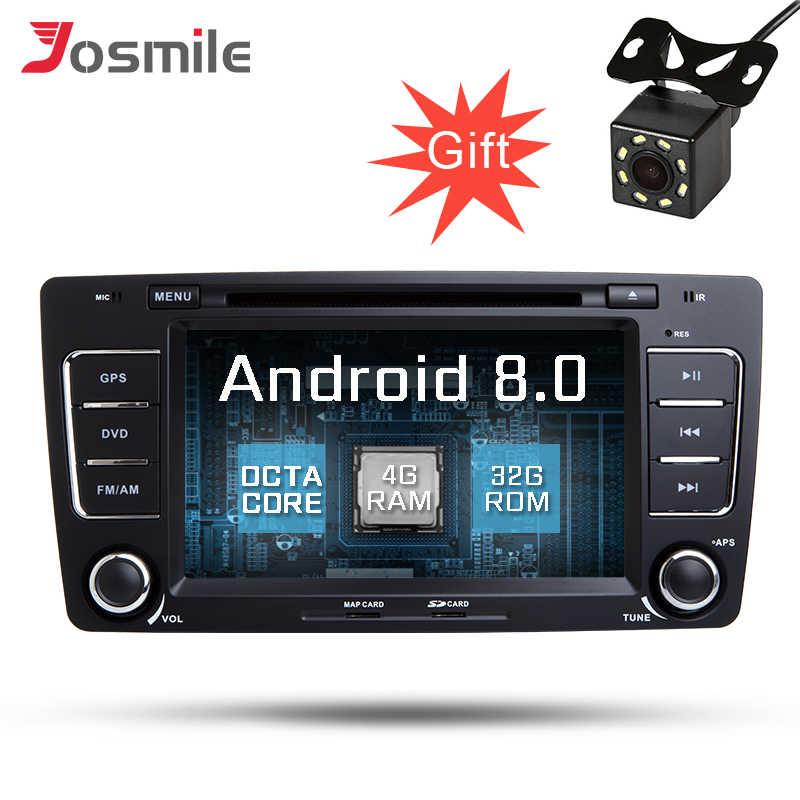 Восьмиядерный Android 8,0 автомобильный радиоприемник с gps для Skoda Octavia 2009-2013 мультимедийный dvd-плеер Canbus 4 Гб ram 32 ГБ rom fm-радио