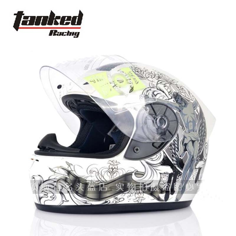 Fashion Tanked Racing Full Face Motorcycle helmet with bib electric bicycle motorbike helmets made of ABS Size M L XL XXL simple style vintage full face helmet custom made motorcycle helmet retro motor helmet