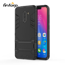 лучшая цена Fintorp Pocophone F1 Case for Xiaomi pocophone F1 Cases Hybrid Armor Kickstand Back Hard Protective Pocophone F1 Poco F1 Covers