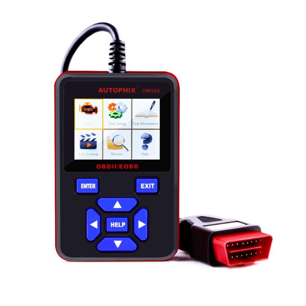 Цена за 2017 Автосканер OBD2 AUTOPHIX OM580 Многофункциональный OBD EOBD сканер может ОДБ 2 Авто диагностический сканер для автомобиля диагностический инструмент