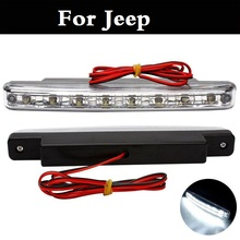 New 2017 6000K DC 12V LED 8 DRL Car Daytime Driving Running Light Fog Lamp For Jeep Liberty Renegade Wrangler Commander