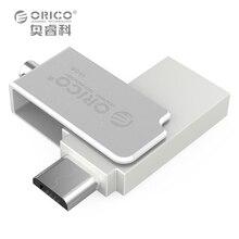 ORICO U2 Мини Металла OTG U Диск 2 в 1 Два Разъема для Мобильного Компьютера Tablet Автомобиля-Серебро