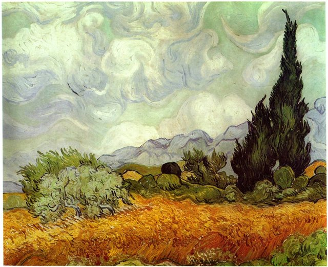 Scenery of Provence Vincent Van Gogh landscape oil painting top ...