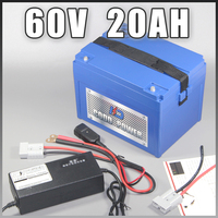 60V 20AH Electric Scooter Lithium ion Battery electric bicycle 60V battery With 1500W BMS Free EU US Duty tax