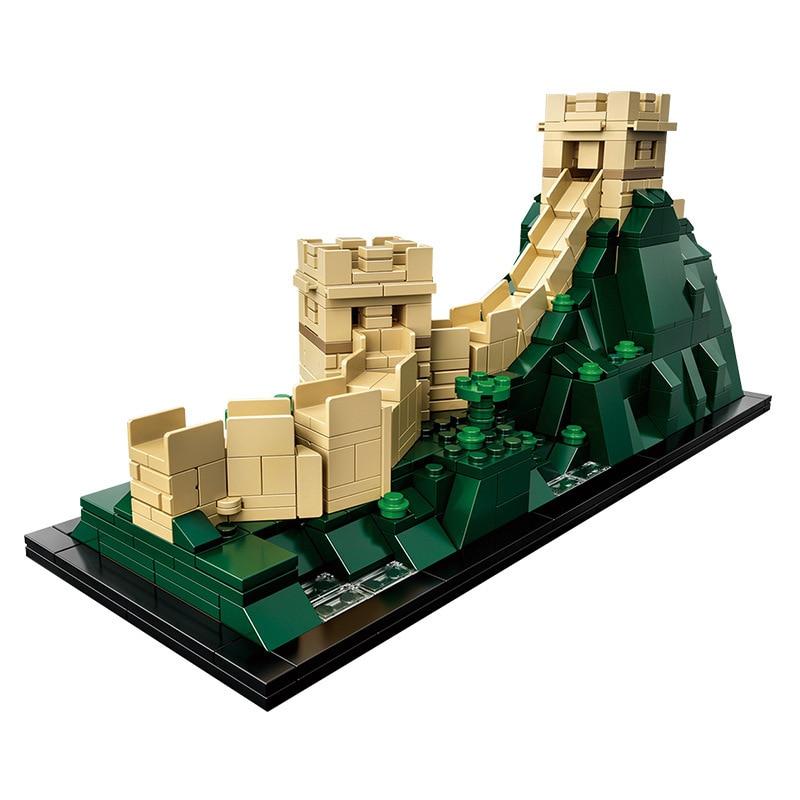 цена Chinese Famous Building17010 the Great Wall of China compatible Legoinglys Architecture 21041Building Blocks Bricks Toys онлайн в 2017 году