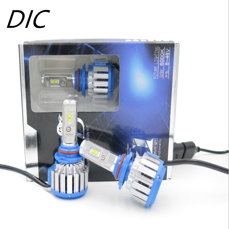DIC Turbo Voiture Phare 70 W/set 18000Lm/set H1 H7 H4 Salut/Lo H8 H11 H13 9005 HB3 9006 HB4 Ampoule 9007 H3 Lumière LED Conduite DRL lampe