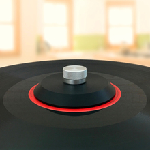 High End LP deluxe POM malzeme LP vinil pikap disk sabitleyici kayıt ağırlığı/kelepçe