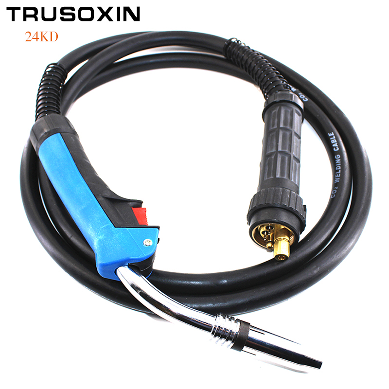 MIG MAG welding machine/equipment accessories Binzel 24KD weld torch /gun with europ connector for the NBC NB welding equipment nt1 3t air cooled gas metal arc welding gun north mig welding torch coupled with twe co fitting 3 meter