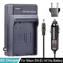 EN-EL14 ENEL14 EN EL14a Battery Car Charger + EU Plug for For Nikon D3100 D3200 D3400 D5100 D5200 D5300 D5600 DF P7000 P7100 P78 battery en el14 1030mah for nikon d3200 d3400 d3300 d3100 d5100 d5200 d5300 d5600 camera battery enel14 en el14a charger 8 4v