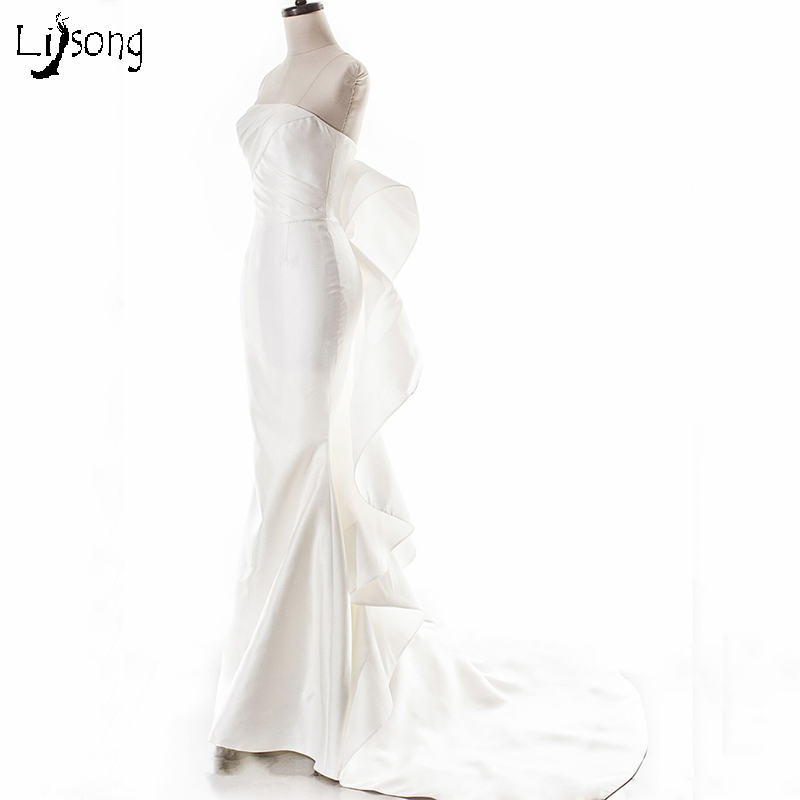 Special Design Off White Ivory Mermaid Sheath Evening Dress Floor ...