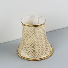 Beautiful Gold Color Fabric Lampshade For Wall Lamp, Fabric Lamp Shade For Table Lamps Mini , E27 hole 4.2cm(China)
