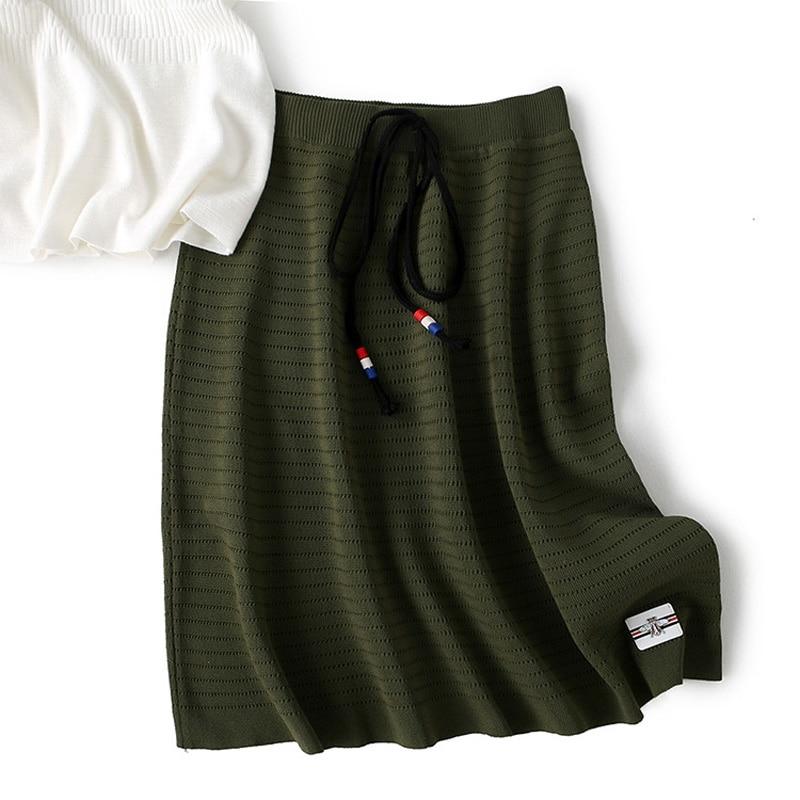 Estilo La gray Z881 3 green Calle Las Casual Hueco Simple Vestido Faldas Vendaje Cortas Diseño Mujeres Sólido Oficina De Black Colores Color FR6Ua1yBO