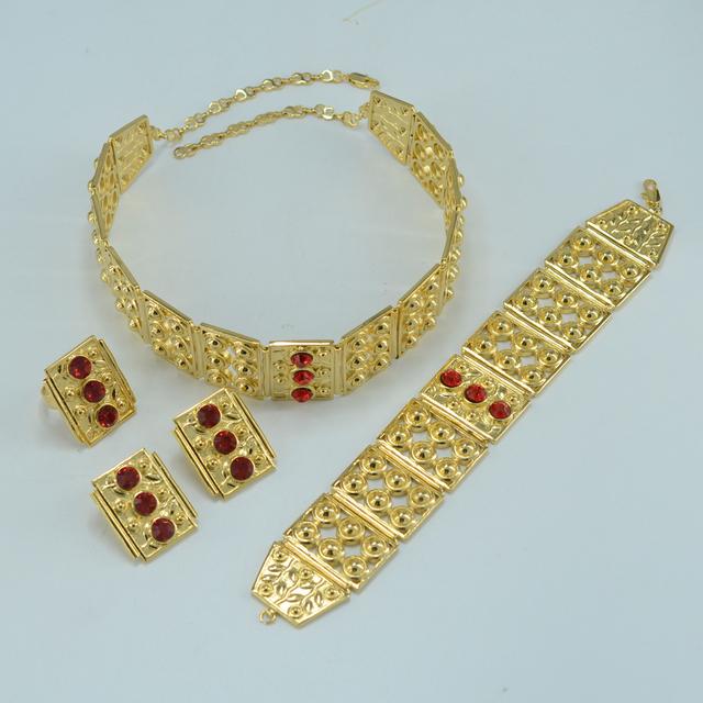 Big size ethiopian set jewelry  gold plated african ethiopia wedding sets jewelry,ethnic tribal wedding habesha kedis#026A020