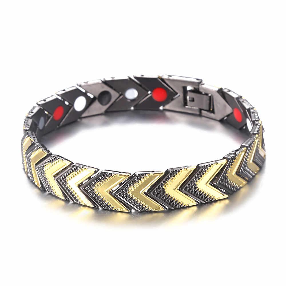 Bracelet en cuivre énergie Ion négatif infrarouge lointain Bracelet magnétique pour femme hommes Bracelet de santé bijoux