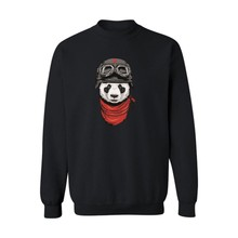 Cute Panda Design 4xl Black Harajuku Sweatshirt Men XXL in Mens Long Sleeve Hoodies Mens Hip Hop Hoodies xxs