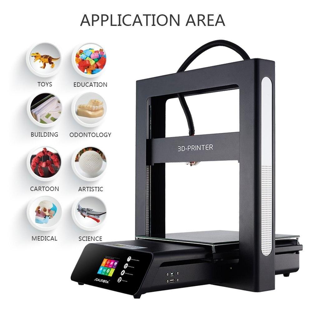JGAURORA 3D Printer A5 Updated A5S Full Metal Diy Kit Extreme High Accuracy Large Print Size 305x305x320mm Impressora 3d 2