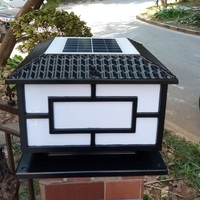 High Quality Solar Pillar Lamp LED Solar Garden Light Outdoor Support Power Supply for Dual Usage w/t Black or Bronze Housing 1p