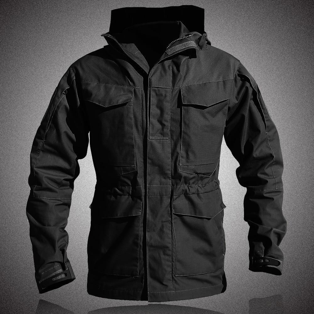 Tactical M-65 Field Jacket Men Thermal Breathable Waterproof Flight Pilot Coat Hoodie Military Field Jacket