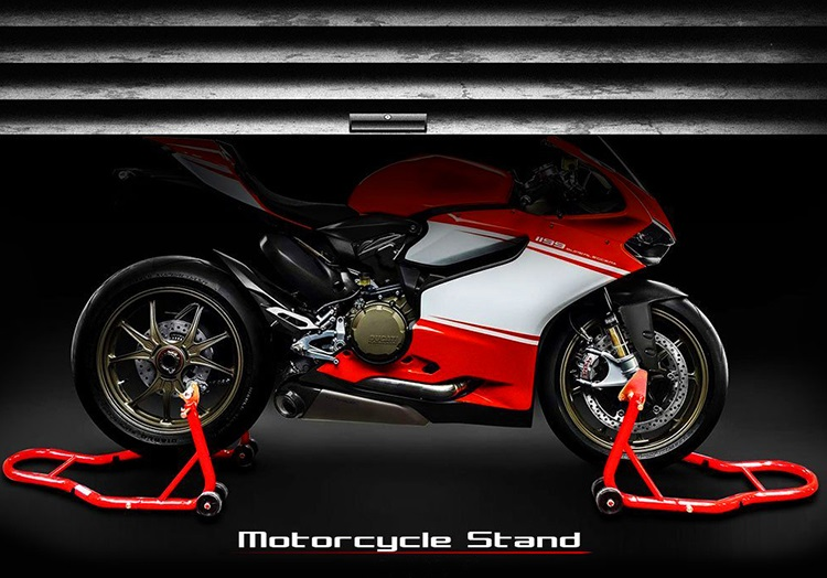 motorcycle stands!
