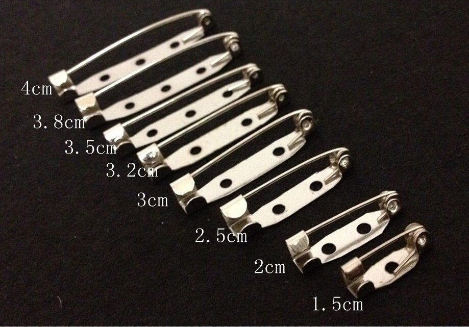 10pcs 25mm Safety Lock Back Bar Pin DIY Brooch Base, Dual Brooch Back Base With Safety Pin Use For Brooch And Hair Jewelry