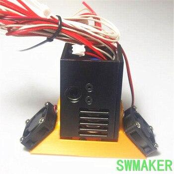 DIY UM2+ Ultimaker 2+ Extended + Plus V6 aluminum alloy replacable UM2 Mount full kit metal black color mount holder