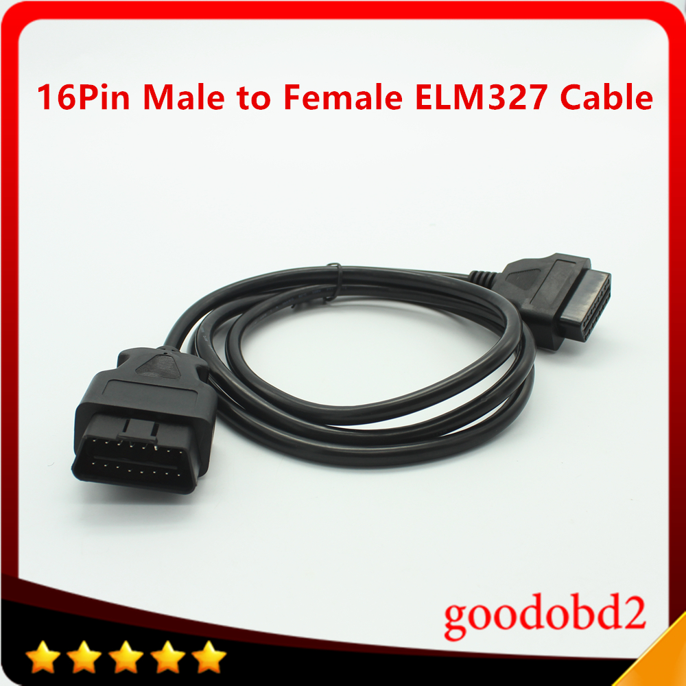 New 16 Pin OBD2 OBDII Male to Female Extension Cable Auto Car Diagnostic Cable