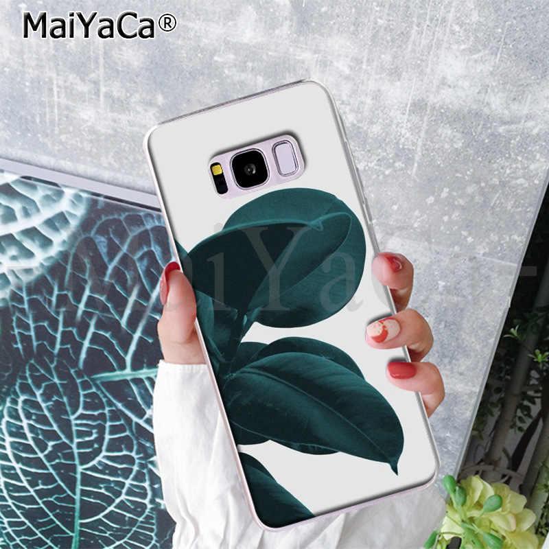MaiYaCa Tropical พืชแคคตัสใบกล้วยสำหรับ Samsung S9 S9 plus S5 S6 S6edge S6plus S7 S7edge S8 s8plus
