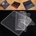 Практичный акриловый шаблон бумажника  прозрачные шаблоны  кожаный шаблон для рукоделия  трафарет для изготовления деловых длинных бумажн...