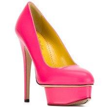 Frauen Black & Blue & Red Pleather Punkt Toe High Heels Plattform Pumpt Schuhe für Frau, plus größe 5-14, casual & party & hochzeit