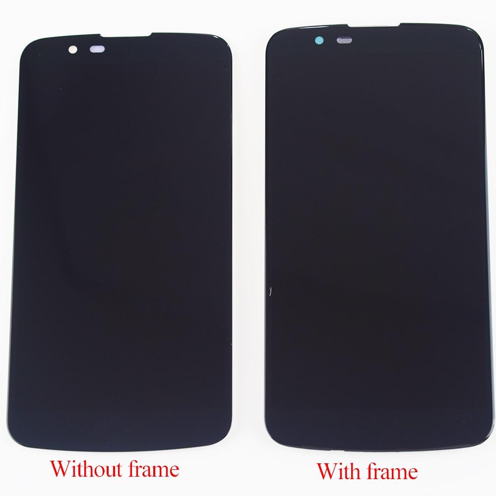For LG K10 LTE K430 K430DS / K410 K420 K420n LCD Display Monitor Panel Module + Touch Screen Sensor Panel Glass Assembly Frame