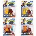 4 pçs/set Pokeball + Pikachu Charizard Meowth + Cartão Monstro Figuras de Ação Brinquedos Japão Anime Brinquedos Colecções Com Nice Package # E