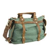 Unisex Retro New Designer Canvas Leather Women Messenger Bags Men Crossbody Bag Shoulder Bag Duffel Bags Weekend free shipping