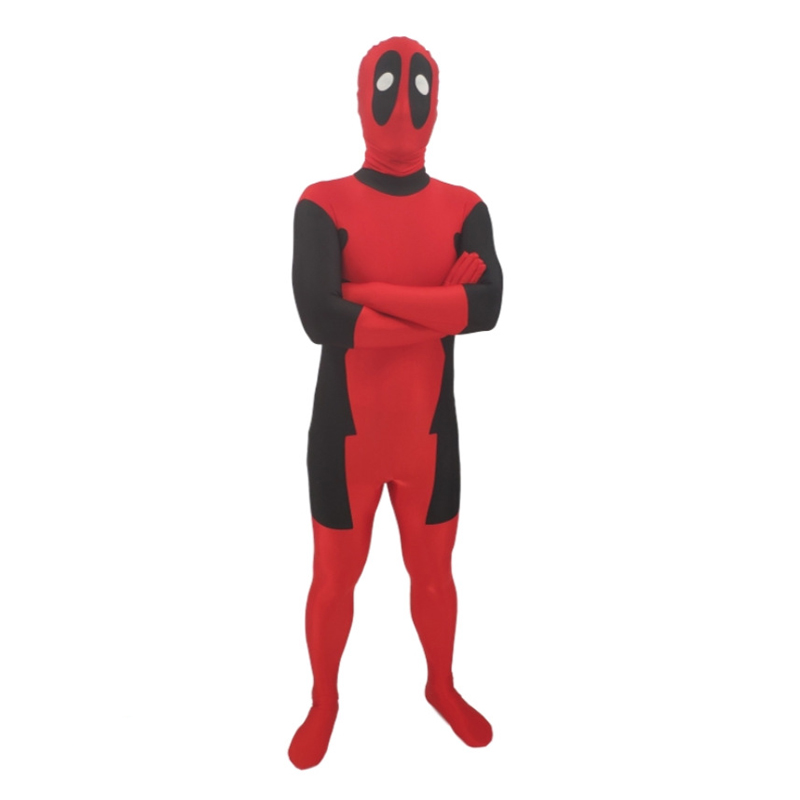 Marvel Halloween Cosplay Deadpool Costume Adult Men Marvel Legends Mask Costume Suit Child Kids Deadpool Cosplay C055