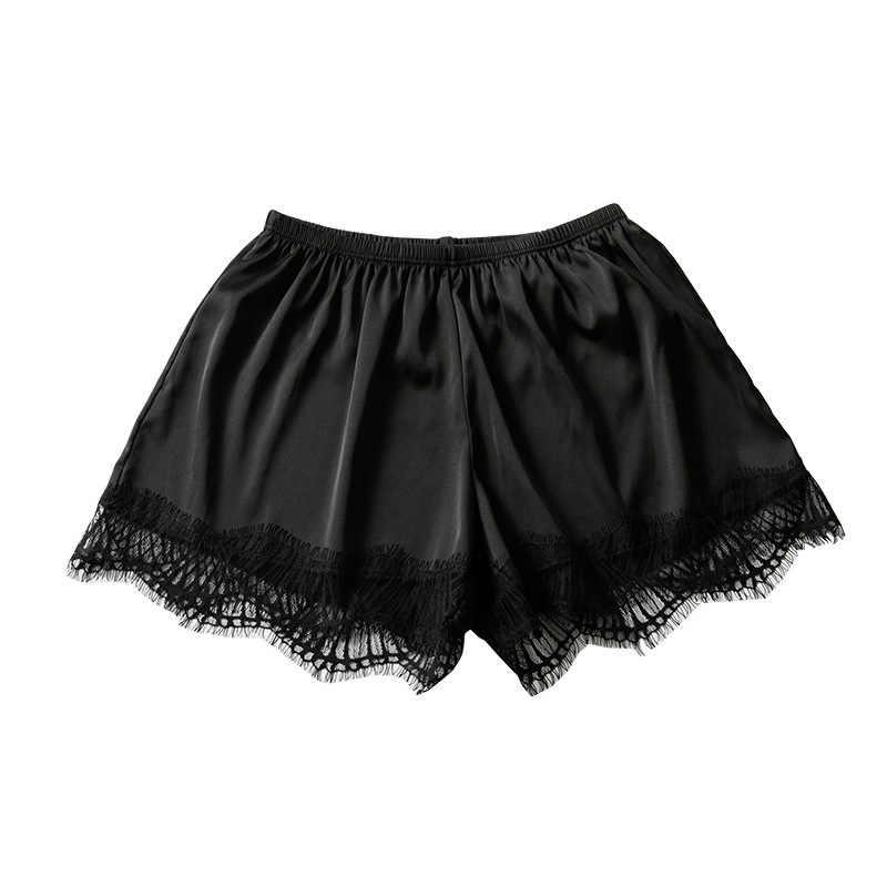 Plus Size kobiety bielizna bezpieczeństwa wysokiej jakości bezpieczeństwa krótkie spodnie w połowie talii koronki gorące spodenki spodnie