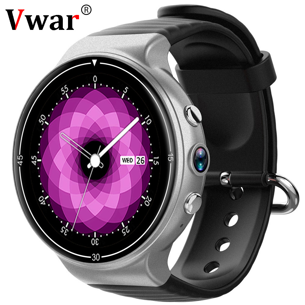Vwar IQ8 4G Android Smart Watch Heart Rate Monitor Mens Watch Sim Card 2MP Fitness Tracker Bluetooth 4.0 For Android/IOS LEM X 696 new i8 4g android smart watch men sport wifi gps heart rate sim card 2mp fitness tracker bluetooth 4 0 for android ios watch