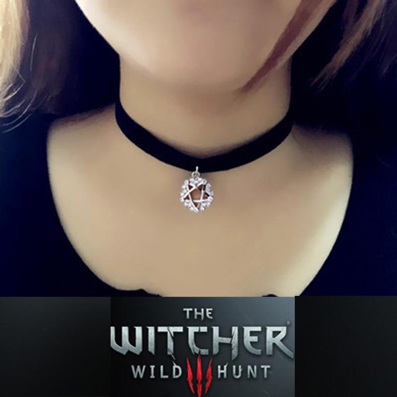 The Witcher 3 Yennefer S999 Sterling Argent Pendentif Femmes Jeu Badge Design De Mode pour Fille Cosplay Partie Bijoux