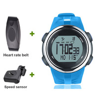 Bike Speed watch Bicycle computer wireless speedometer Riding runing Heart rate monitoring calorie 3D sensor step