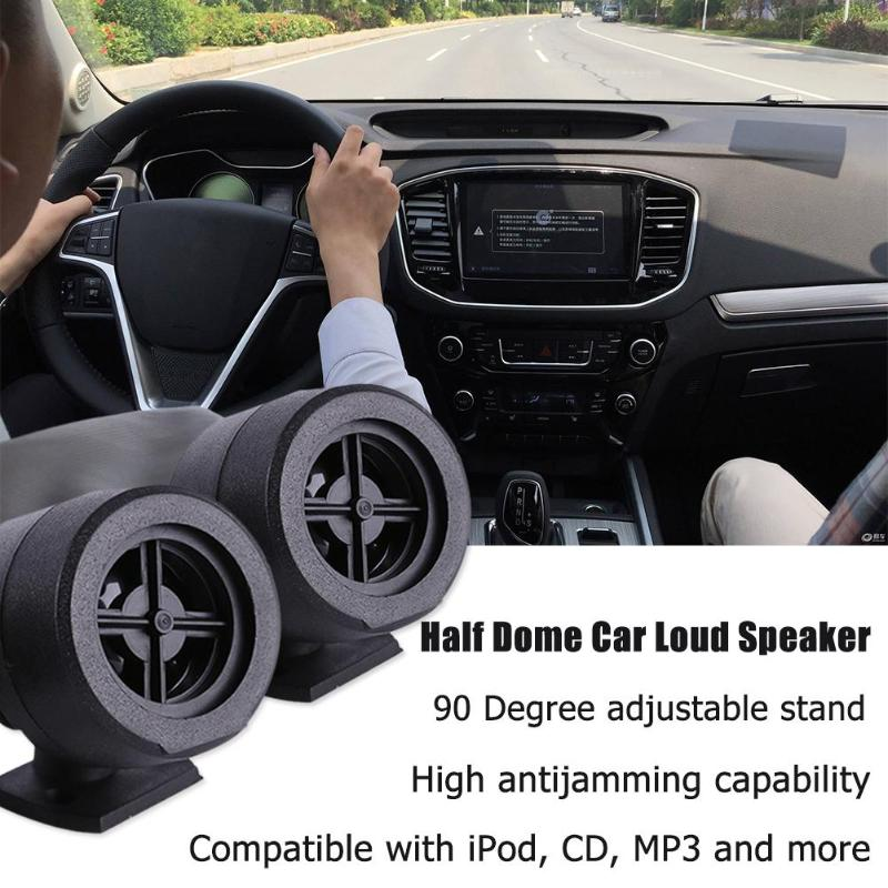 Universal High Quality Half Dome Car Loud Speaker Tweeter High Efficiency Audio System Adjustable Stand Auto Sound Loudspeakers