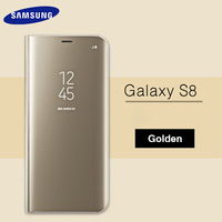 Samsung Galaxy S8 Plus Original Case Cover Mirror Flip 360 Cute Shockproof Silicone Leather Armor Wallet