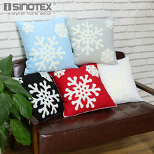Soft Plush Snowflake Embroidery Pillow Covers Christmas Style Decorative Throw Case Cushion Cover 18
