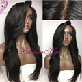 Top Sale Synthetic Lace Front Wig Natural Straight Brazilian Hair Wig Heat Resistant Synthetic Lace Front Wigs For Black Women
