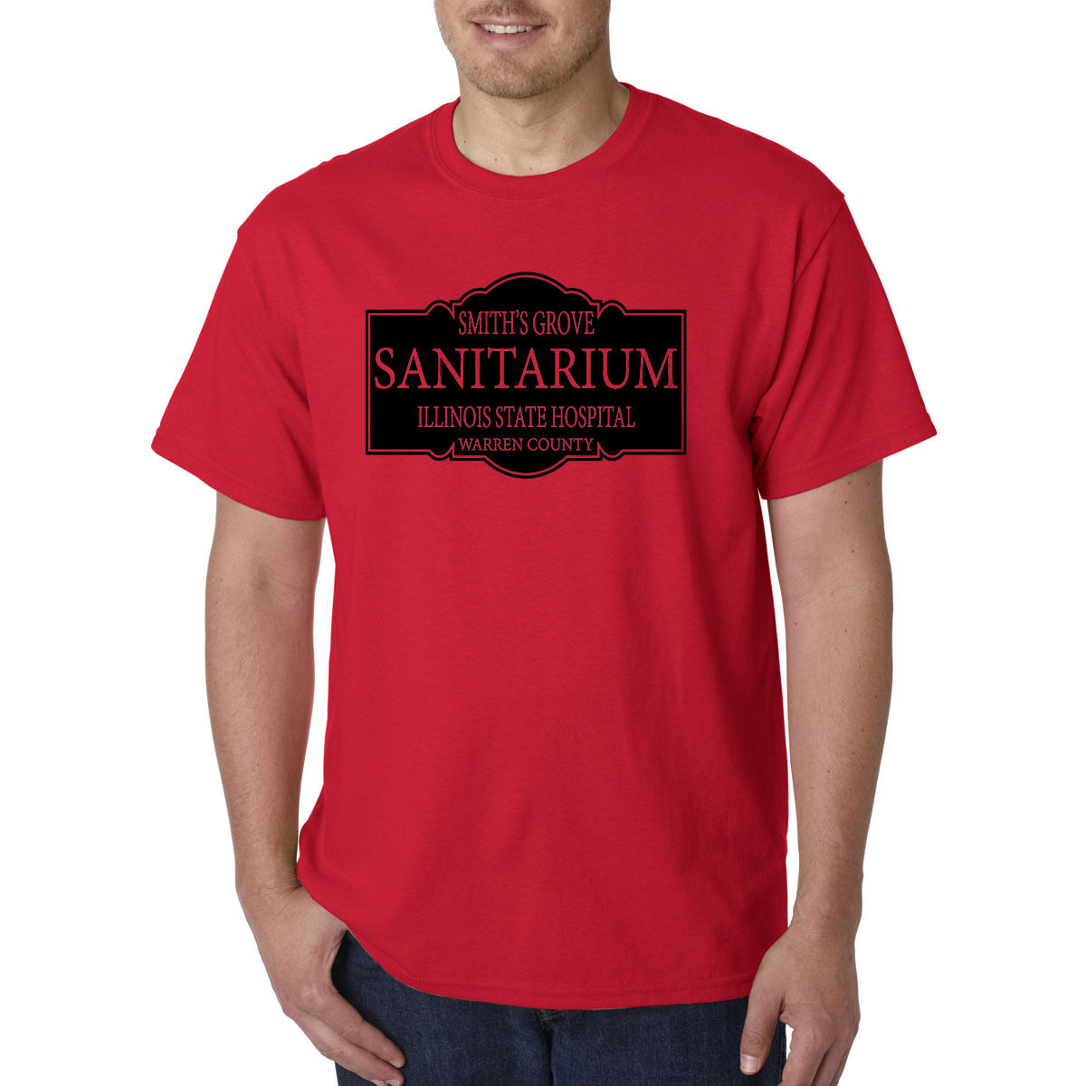 Smiths Grove Sanitarium T-Shirt - HALLOWEEN Michael Myers Mental Hospital Movie Cheap Sale 100 % Cotton T Shirts For Boys