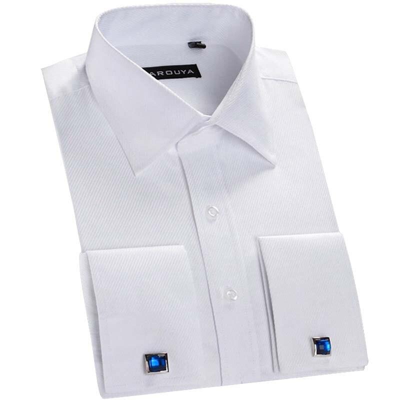 Quality Men/'s Black//White Check// Plaids Dress Shirt w// Spread Neck French Cuff