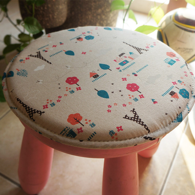 Baby Round Stool Cushion Thermal Sponge Pad Cloth Round Chair Cushion Bar  Stool Bar Stool Tabourers