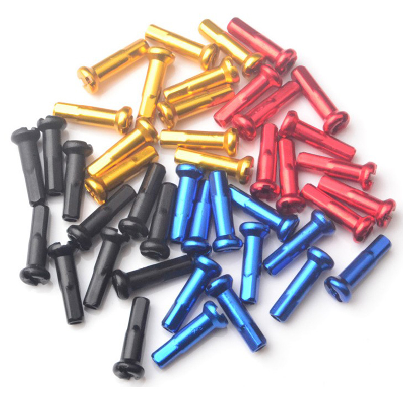 72 Pcs Multicolor Alloy Anodized Bike Wheel Spoke Nipples 14mm Mountain Bike Cycling Spokes Nipples For Bicycle Wheel