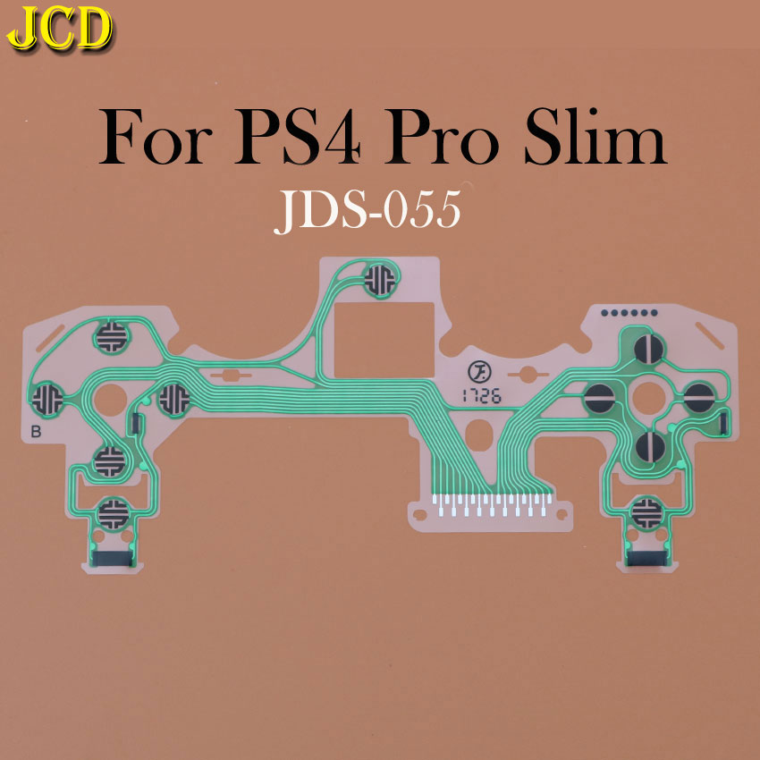 JCD For Dualshock PS4 Pro Slim JDM 030 040 Controller Conductive Film  Keypad Flex Cable for PS2 PS3 Buttons Ribbon Circuit Board