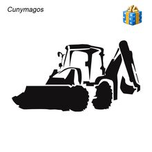 Cunymagos Jcb Digger Mode Decor Stickers Decals Vinyl Accessoires Auto Styling Motorfiets Muursticker Decal 19.5 cm * 10.8 cm(China)